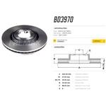Par de disco dianteiro Nova S10 2012 a 2016, Trailblazer 2013 a 2016. Disco ventilado diametro 300mm e 06 furos.