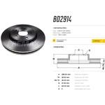 Par de disco de freio dianteiro CRV 2.0 2007/. Disco ventilado diametro 296mm e 05 furos<BR>