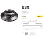 Disco de freio dianteiro Troller T4. Disco ventilado diametro 300mm e 06 furos. Preço por peça