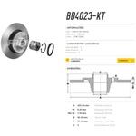 Disco de freio traseiro Fluence 1.6 e 2.0 2011 a 2014. Disco traseiro solido completo com rolamento montado no cubo