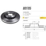 Par de disco de freio dianteiro Civic 1.5 Turbo, Civic 1.8 2012 a 2016 e Civic 2.0 2014/, Disco ventilado diametro 282mm e 05 furos