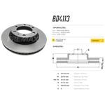 Par de disco de freio dianteiro Hilux 2.5, Hilux 2.7, Hilux 2.8, Hilux 3.0, SW4 2.7, SW4 3.0 e SW4 4.0. Disco ventilado diametro 319mm e 06 furos