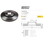Par de disco de freio Tracker 1.4 e 1.8. Disco ventilado diametro 300mm e 05 furos