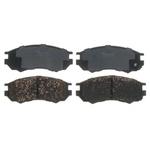 Jogo de pastilhas do freio dianteiro Nissan NX 1991-1993 e Sentra 1991-1992. Referencia Raybestos PGD549 - 33549