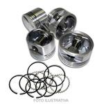 Jogo de pistão e anel 0,50 Opala, Caravan, A10 e C10 motor 151 04 cilindros a alcool e gasolina - 97062610