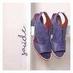 Sandalia Salto Grosso Confortável Azul