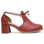Sapato Feminino Salto Grosso Vermelho - Dublin - 771-01
