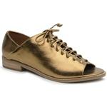 Sapato Peep Toe Baixo Bronze - Pisa - 842-13