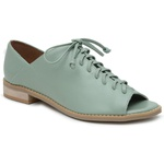 Sapato Peep Toe Baixo Verde Menta - Pisa - 842-13