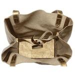 Bolsa de Couro Legítimo Feminina Asa Delta - Bronze
