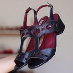 Sandália Salto Baixo Laser Preto