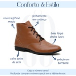 Bota Feminina Couro Legítimo Caramelo - Austin - 240-11