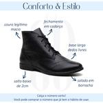 Bota Feminina Couro Legítimo Preta - Austin - 240-11