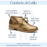 Bota Feminina Cano Curto Couro Legítimo Bronze - Madrid - 554-02
