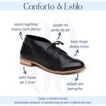 Bota Feminina Cano Curto Couro Legítimo Preta - Madrid - 554-02