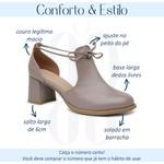 Sapato Feminino Salto Grosso Amêndoa - Dublin - 771-01