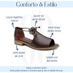 Sandália Salto Baixo Freedom com Calcanhar Fechado Madeira