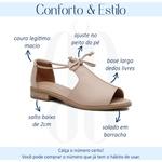 Sandália Salto Baixo Freedom com Calcanhar Fechado Nude - 842-07