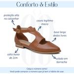 Sapatilha Feminina Bico Folha Couro Caramelo - Nova Iorque - 901-10