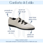 Sapatilha Feminina Bico Fino Couro Confortável Off White - Valência - 901-13