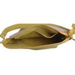 Bolsa de Couro Legítimo Feminina Lotus - Amarelo e Lavanda