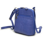 Bolsa de Couro Legítimo Pequena Xodózinha Azul Anil
