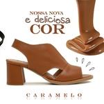 Sandália Salto Grosso Caramelo - Veneza - 177-20