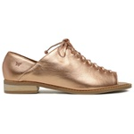 Sapato Peep Toe Baixo Metalizado Cobre- 842-13