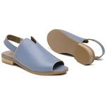 Sandália Salto Baixo Abbraccio Azul Hortência- 842-23