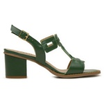 Sandalia Salto Grosso Medio Verde- 400-24