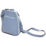 Bolsa de Couro Legítimo Pequena Xodózinha Azul Hortência