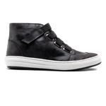 Sneaker Casual Balder Cano Alto Couro Preto