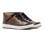 Sneaker Casual Balder Cano Alto Couro Tan