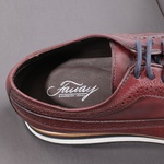 Sapato Casual Derby Brogue Durhan Bordo