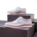 Sapato Casual Derby Brogue Durhan Branco
