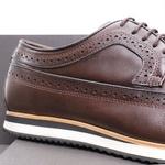 Sapato Casual Derby Brogue Durhan Café