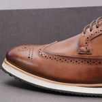 Sapato Casual Derby Brogue Durhan Whisky