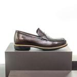 Sapato Casual Masculino Loafer Mood Aspen Café + Carteira Faway