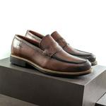 Sapato Casual Masculino Loafer Mood Aspen Conhaque