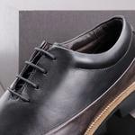 Sapato Casual Masculino Oxford Mood Sidetrack Preto e Café
