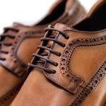 Sapato Masculino Derby Brogue Faway Mood Harken Conhaque