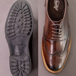 Sapato Casual Masculino Oxford Brogue Mood Transit Café