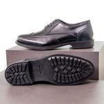 Sapato Casual Masculino Oxford Brogue Mood Transit Preto