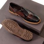 Sapato Casual Masculino Oxford Brogue Mood Transit Preto-Café
