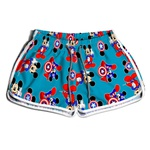 Short De Praia Estampado Feminino Mickey América Use Nerd