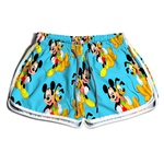 Short De Praia Estampado Feminino Pateta e Mickey Use Nerd