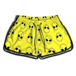 Short De Praia Estampado Feminino Yellow Abduction Use Nerd