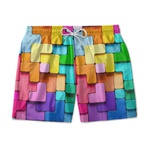 Short Praia Estampado Cubo 3D Use Nerd