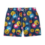 Short Praia Estampado Emotions Use Nerd