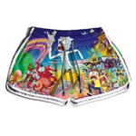 Short Praia Estampado Feminino Rick Morning Use Nerd